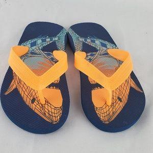 👑 EUC Children's Place Orange & Blue Flip-Flops
